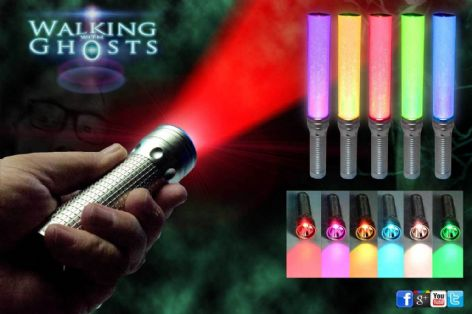 RGB Multicolour LED Flashlight Lantern Ghost Hunt Paranormal Investigation
